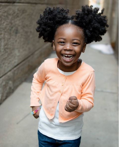 Little Yanna Buttons And Her Double Afro Puffs Will Make