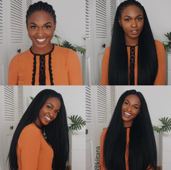 How To Straight Hair Crochet Braids With Knotless Parts Emily