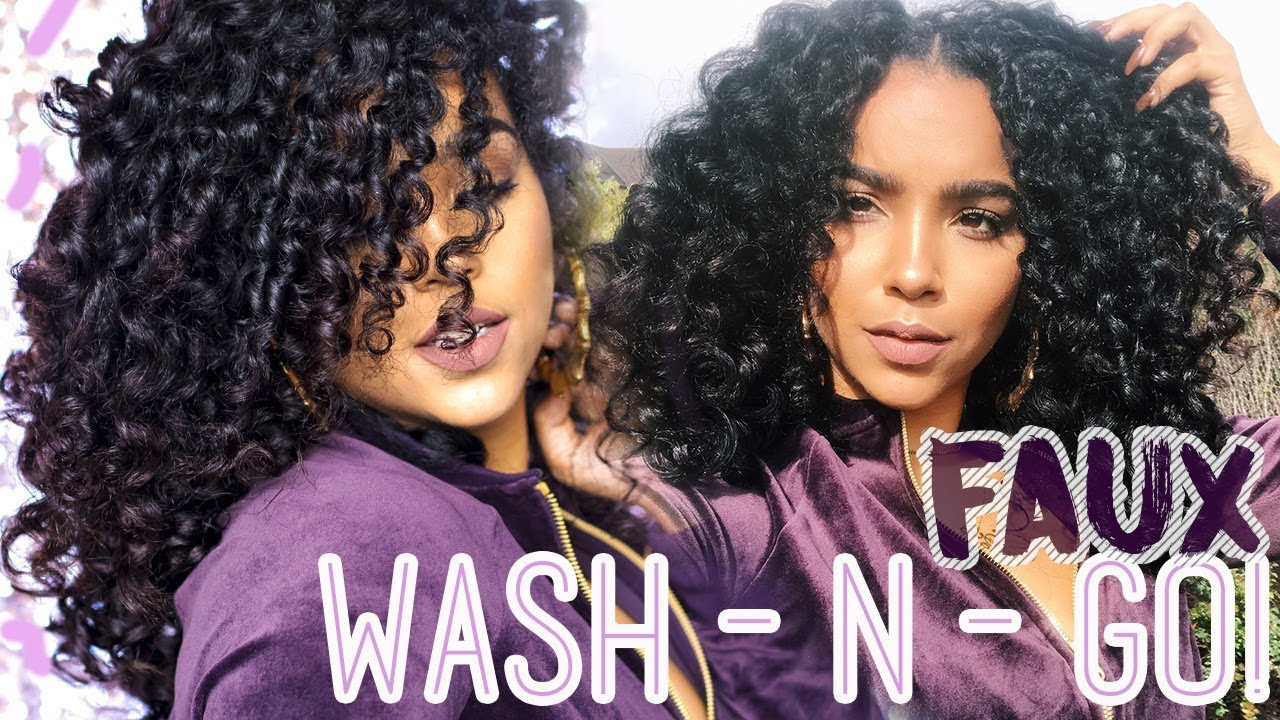 Faux Wash N Go Routine For Damaged Curly Hair With Lipstick N Curls ...
