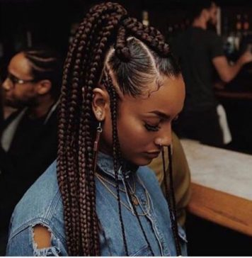 tribal box braids